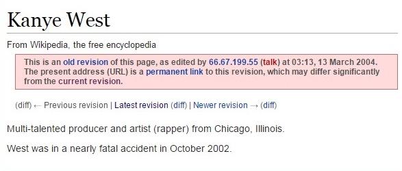 kanye wikipedia