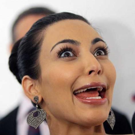kim kardashian-grimace