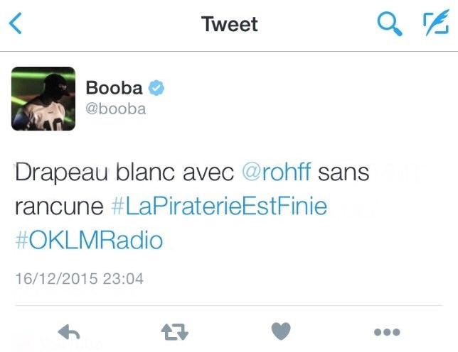 Booba-Tweet