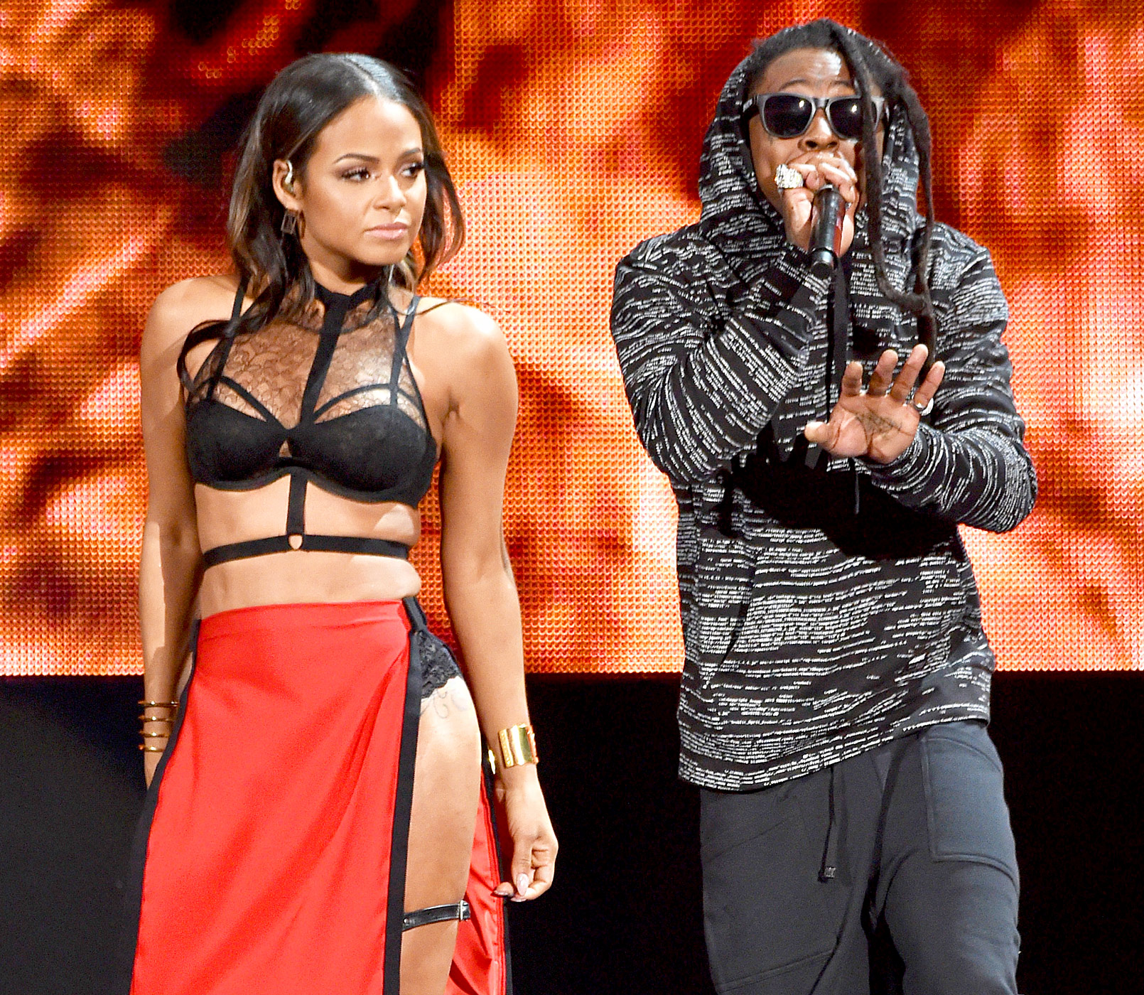 Christina Milian-Lil Wayne-couple
