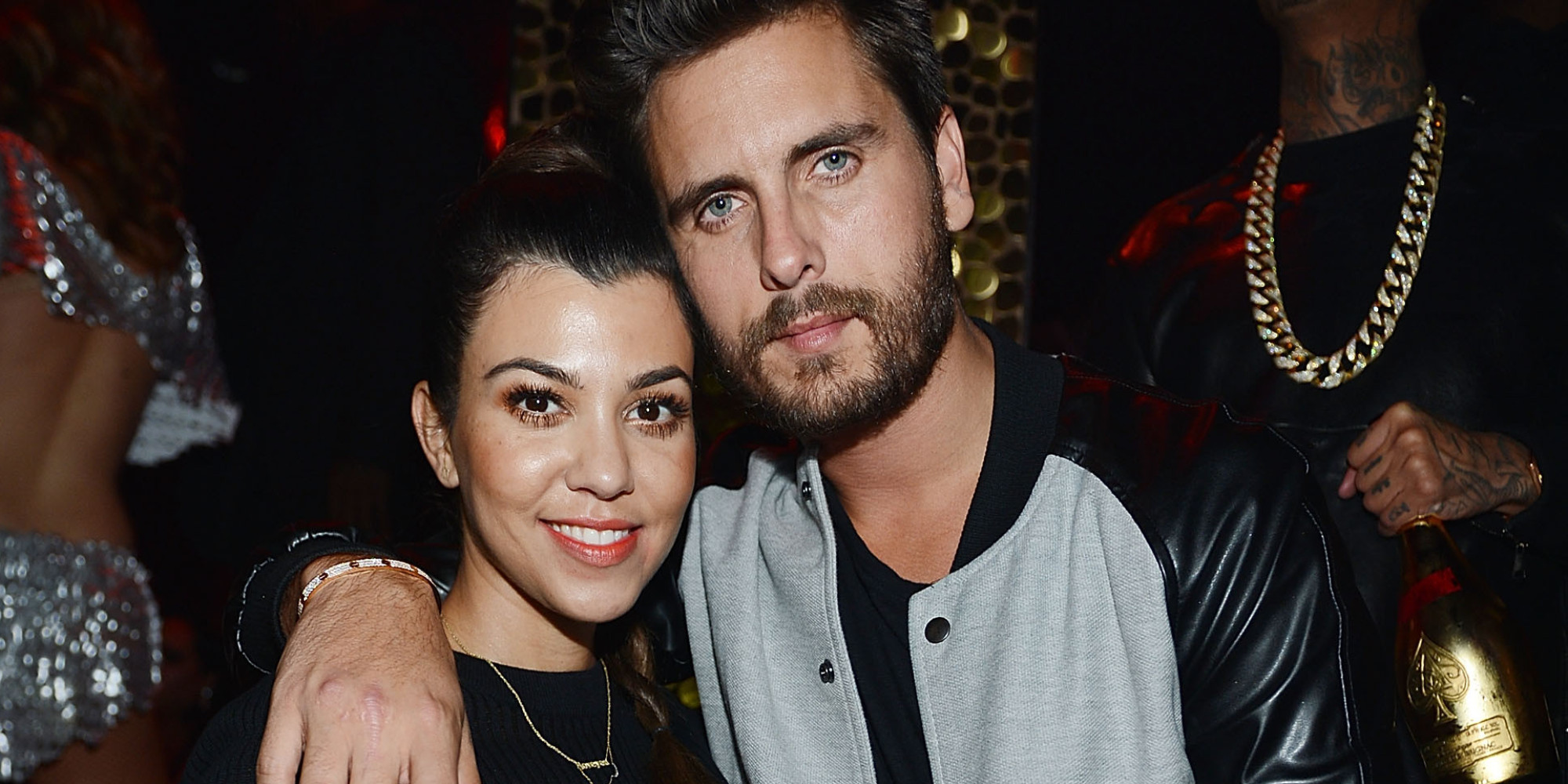 LAS VEGAS, NV - OCTOBER 25: (EXCLUSIVE COVERAGE) Kourtney Kardashian and Scott Disick celebrate Kim Kardashian's 33rd birthday at Tao Las Vegas on October 25, 2013 in Las Vegas, Nevada. (Photo by Denise Truscello/WireImage)