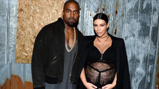Kanye West, Kim Kardashian== GIVENCHY Spring 2016 Fashion Show== Pier 26, Hudson River Park, NYC== September 11, 2015== Photo - Clint Spaulding/PatrickMcMullan.com== (PatrickMcMullan.com via AP Images)