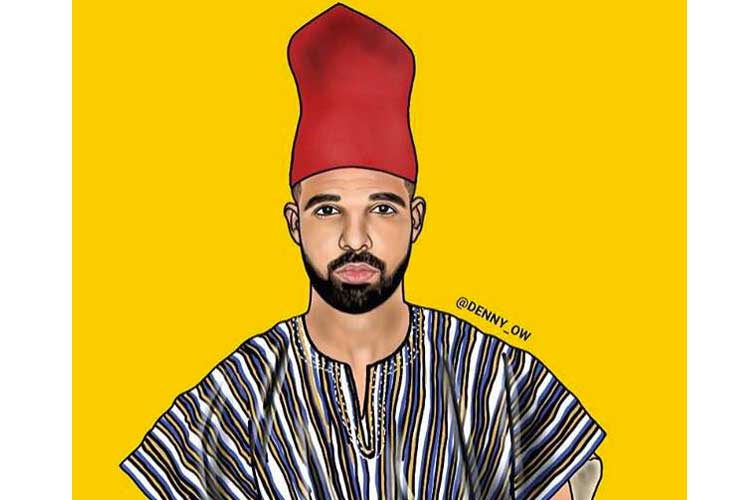 Drake-tenue-africaine