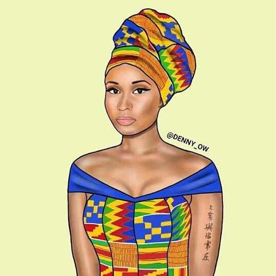 Nicki Minaj-tenue africaine