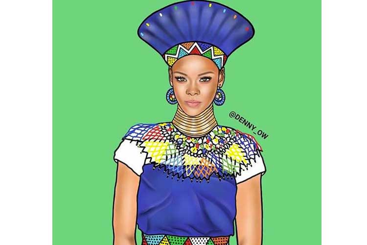 Rihanna-Denny-Ow-African-Moove
