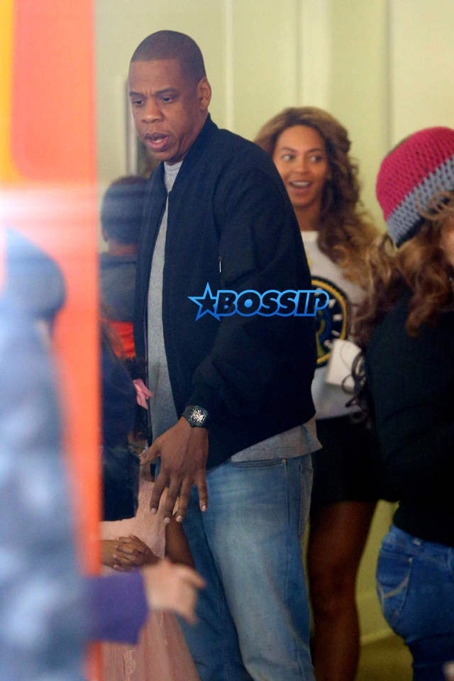 *EXCLUSIVE* West Hollywood, CA - Beyonce and Jay Z celebrate their daughter Blue Ivy Carter's birthday at Cake Mix in Weho on Sunday. Blue Ivy turned 4 year old on January 7th. There were many guests in attendance and the family shared hugs with each other. Blue Ivy wore a cute pink tulle dress to the party. AKM-GSI       January 10, 2016 To License These Photos, Please Contact : Steve Ginsburg (310) 505-8447 (323) 423-9397 steve@akmgsi.com sales@akmgsi.com or Maria Buda (917) 242-1505 mbuda@akmgsi.com ginsburgspalyinc@gmail.com