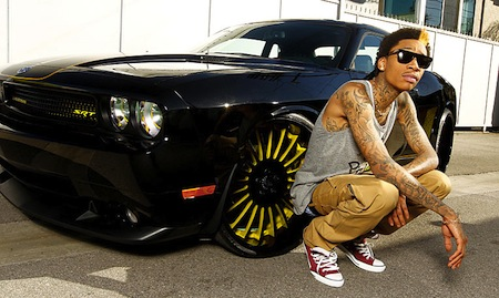 Wiz-Khalifa-Dodge-Challenger-SRT-8