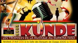 Kundé 2016 : la musique burkinabé à l'honneur ce vendredi 29 avril