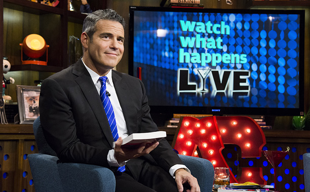 WATCH WHAT HAPPENS LIVE -- Episode 956 -- Pictured: Andy Cohen -- (Photo by: Charles Sykes/Bravo)