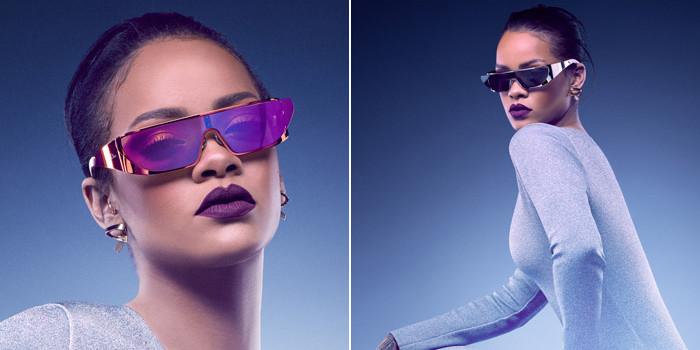 9a679bb8261b4c Rihanna présente sa collection de lunettes de soleil futuristes pour ...
