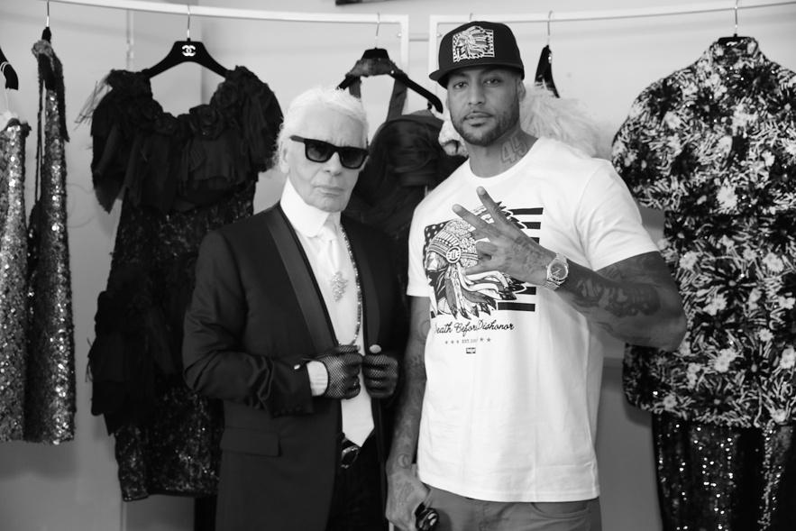 Booba et Karl Lagerfeld au festival de Cannes
