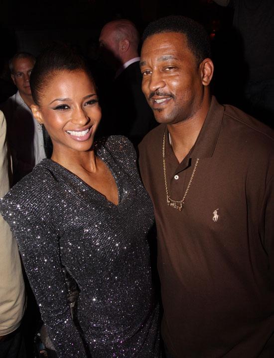 Ciara et son père Carlton Harris