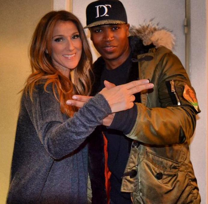 Celine Dion et son reil Rohff dans les coulisses de Bercy