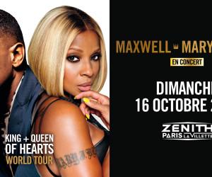Maxwell et Mary J Blige en concert au Zénith de Paris le 16 Octobre!