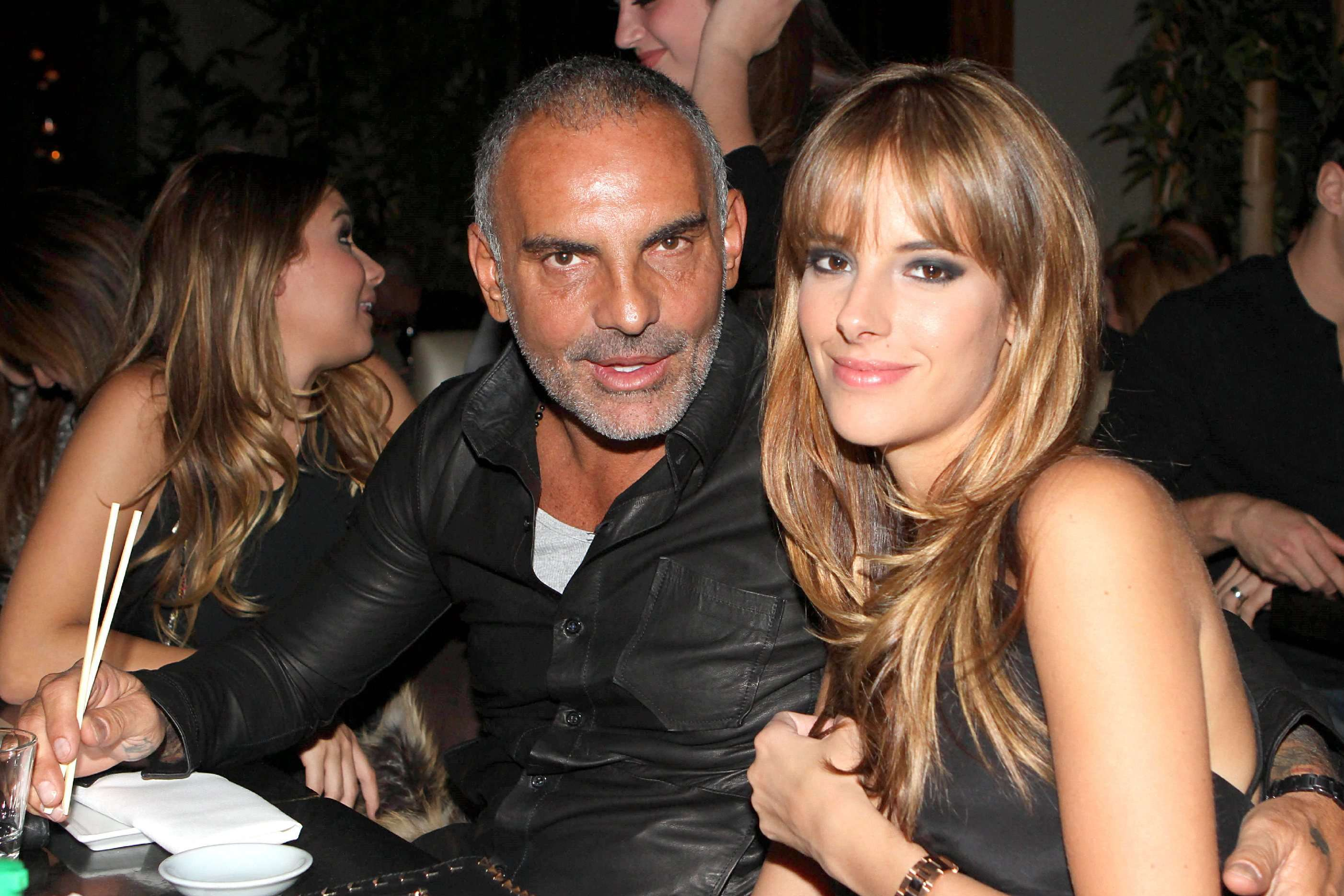Christian Audigier and Nathalie Sorensen at Koi restaurant celebrating the designer's 19 years old daughter, Crystal Rock Audigier birthday  Los Angeles, California - 20.11.11 Mandatory Credit: BAC/WENN.com/christian_audigier_211111.christian_audigier_0/1111210437