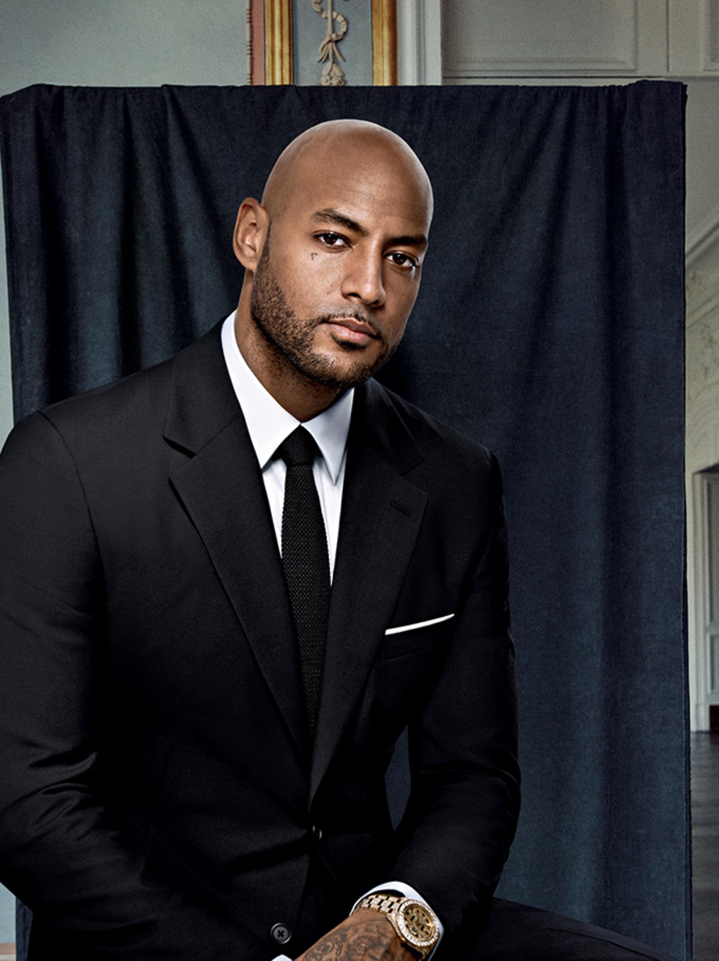 Booba pour GQ (photo : Sheryl Nields)
