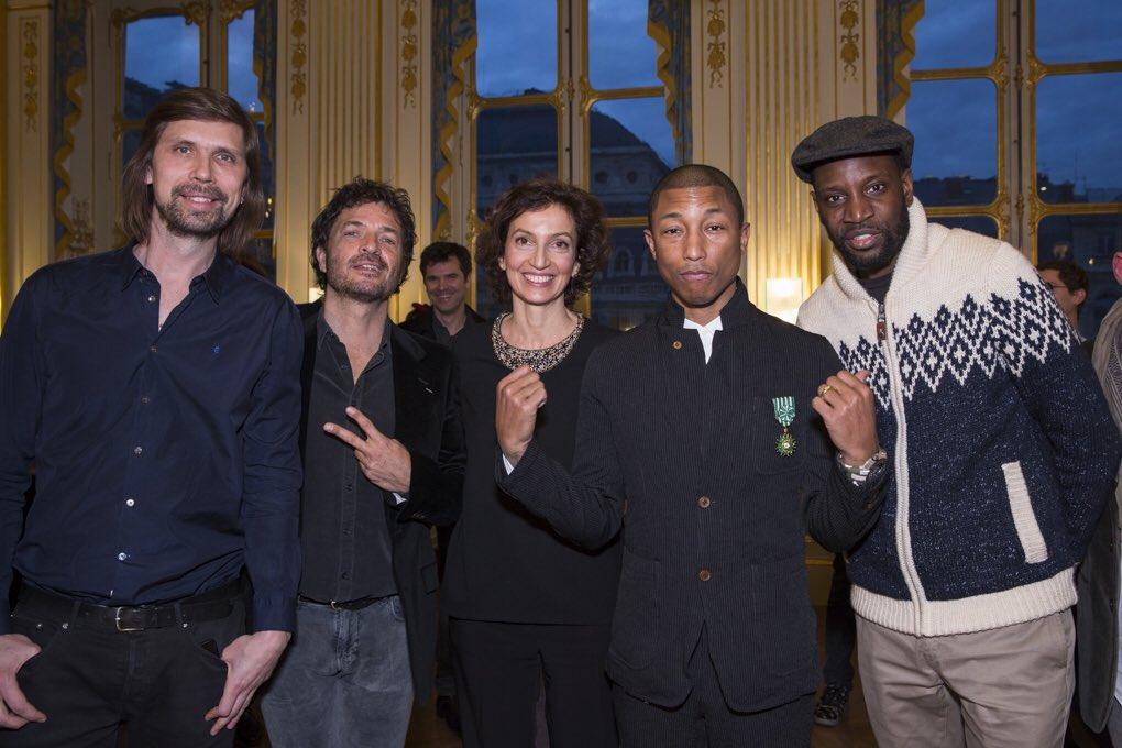 Pedro Winter, Audrey Azoulay, Pharrell Williams et Abd Al Malik